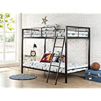 Zinus Easy Assembly Quick Lock Twin over Twin Metal Bunk Bed / Quick to Assemble in Under an Hour