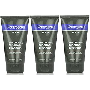 Neutrogena Men Skin Clearing Shave Cream 5.10 oz (Pack of 3)