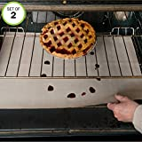 Evelots Large Oven Rack Liners Non Stick Fiberglass 400 Degrees Easy to Cut- S/2