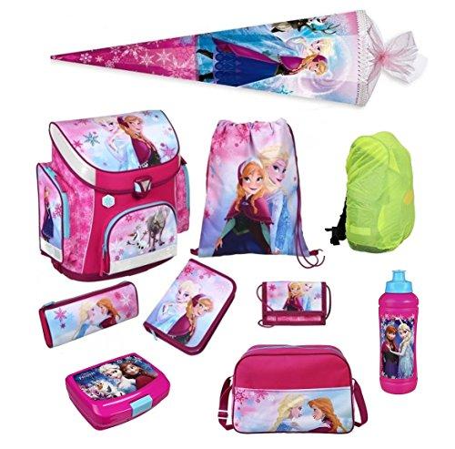 Disney die Eiskönigin Schulranzen Set 10tlg. Sporttasche, Schultüte 85cm, Regen/Sicherheitshülle Scooli FRQA8251 Frozen