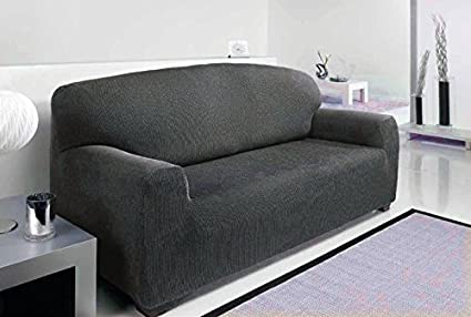 3 SEATER   Easy Stretch Elastic Fabric SOFA / SETTEE SLIP COVER Black U0027Sofa  Huggers