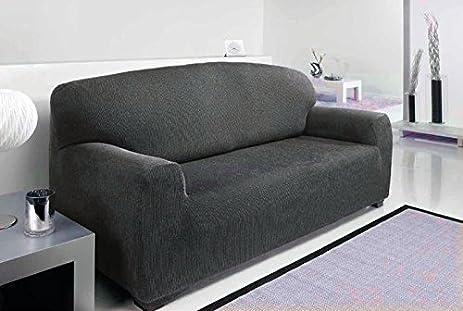 Merveilleux 3 SEATER   Easy Stretch Elastic Fabric SOFA / SETTEE SLIP COVER Black U0027Sofa  Huggers