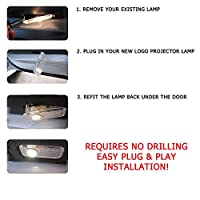 Excellent Car Door LED Lighting Entry Laser Ghost Shadow Projector Welcome Lamp Logo Light for BMW ( Pack of 4) by ExcellentCar Welcom Light