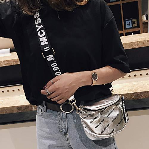 Bandolera para Hombro Chica móvil teléfono Silver Dinero lzndeal Bolsa Cremallera Señora Moda Ajustable qTRW6twFx