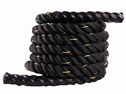 Toolsempire 1.5 Width 40ft Length Poly Dacron Battle Rope Workout Training Undulation Fitness Cardio Exercise Ropes Core Abdominal Strength Trainers