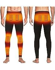 EssenceLiving Thermische broek voor heren, USB elektrische verwarmde legging, 8 kachels, 3 onafhankelijke temperatuur, winter, warm, katoen, lange broek, verwarmde broek, thermische broek voor koud weer buiten