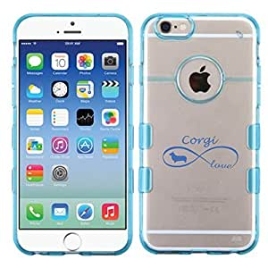 For iPhone 6 (4.7) Love Gorci Glassy Transparent Clear/Transparent Gummy Cover. (Baby Blue)
