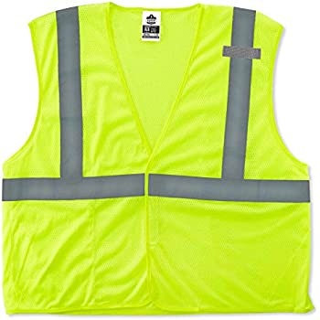 Ergodyne GloWear 8210HL ANSI Economy High Visibility Lime Reflective Safety Vest, Hook & Loop Closure, 2X-Large/3X-Large