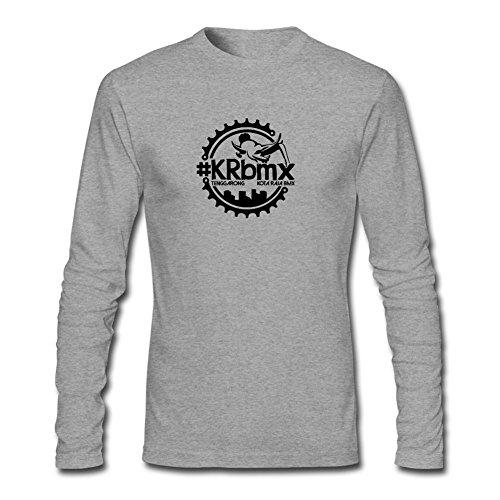 XIULUAN Men's KOTA RAJA BMX Logo Long Sleeve T-shirt XXXL (St Martin Bmx)
