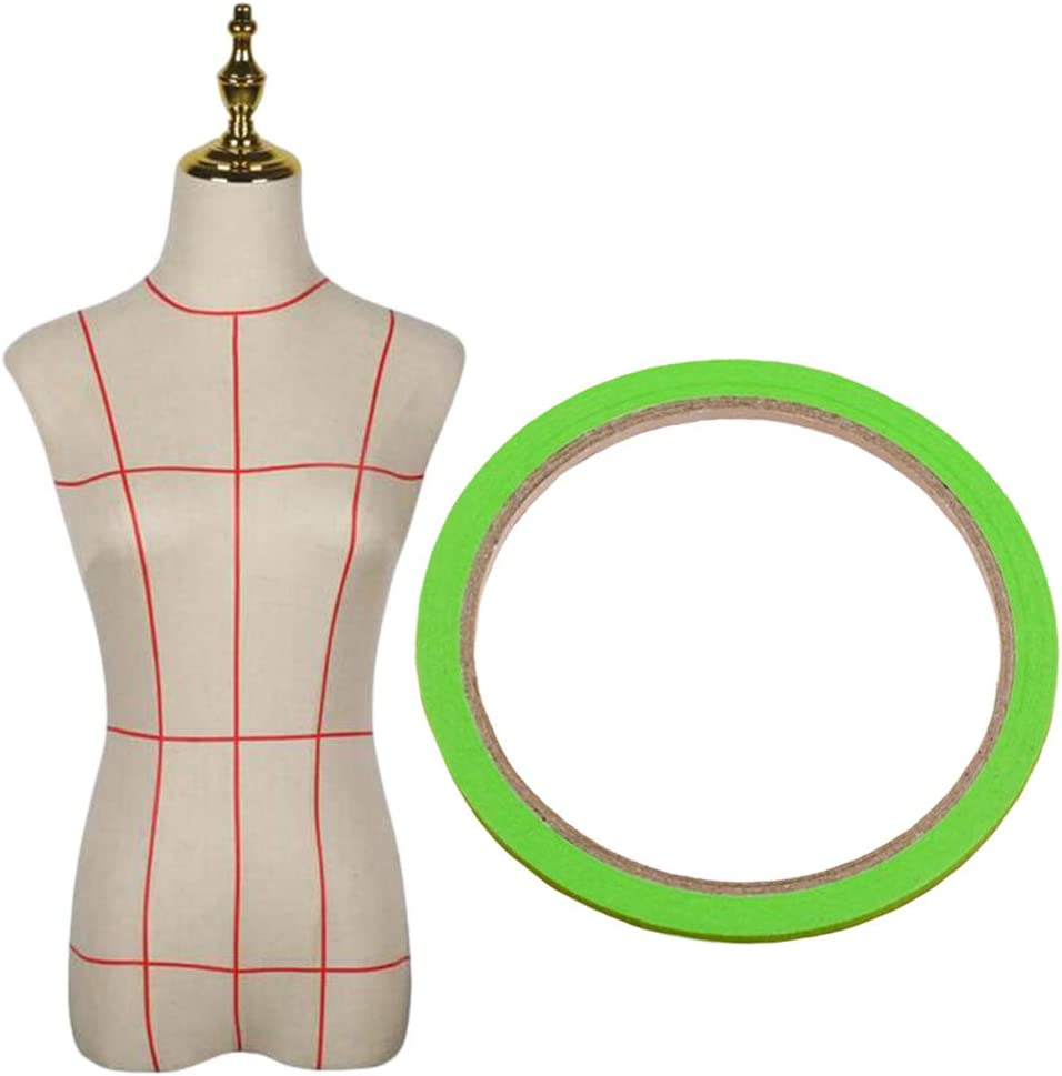 Hellery 10Rolls Draping Tape Mannequin Pattern Masking Tape Gridding Dress Form Supplies Amarillo