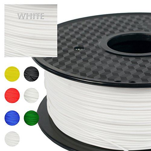 PRILINE PETG-1KG 1.75 3D Printer Filament, Dimensional Accuracy +/- 0.03 mm, 1kg Spool, 1.75 mm, White