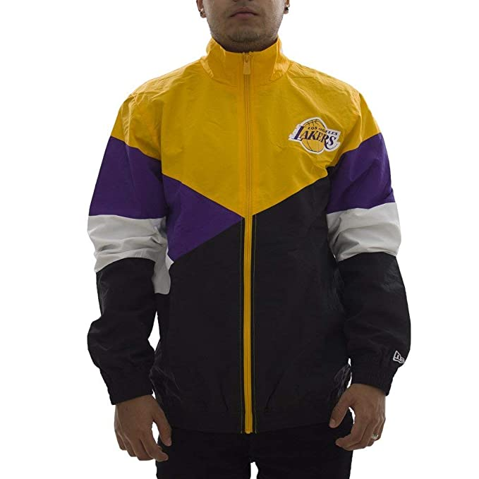 A NEW ERA Track Top NBA Los Angeles Lakers Colour Block ...