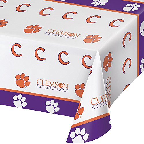 Clemson Tigers Bowl Game - 2-ct Clemson University Tigers Premium Plastic Table Covers College Football Party