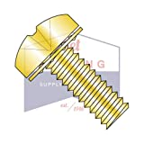 6-32X1/2 SEMS Screws | Internal Tooth Washers | Phillips | Pan Head | Steel | Zinc Yellow (QUANTITY: 10000)