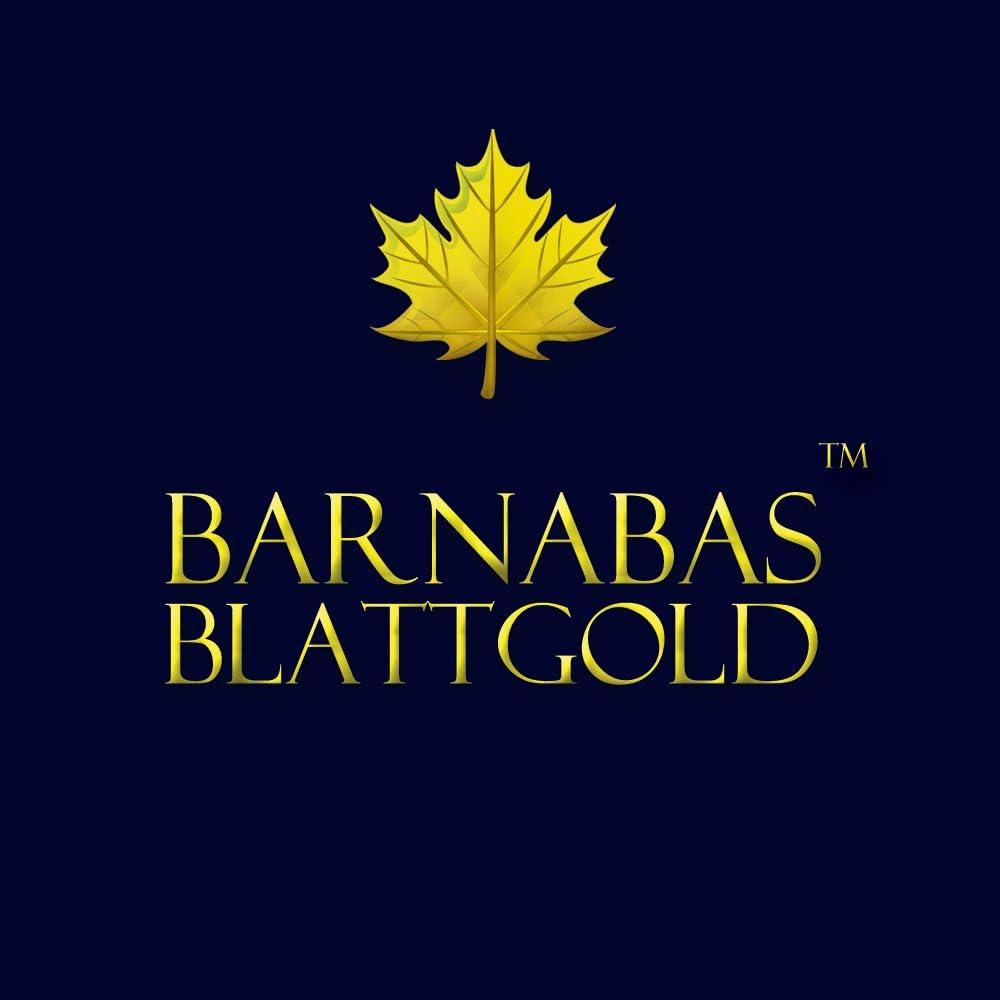 10 Blatt Barnabas Blattgold Blattgold 23,75 Karat 8,6 cm