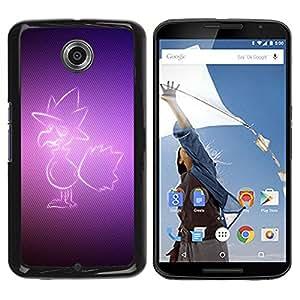 Be Good Phone Accessory // Dura Cáscara cubierta Protectora Caso Carcasa Funda de Protección para Motorola NEXUS 6 / X / Moto X Pro // Purple Bird