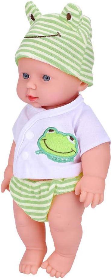 Ruiboury Morbido Vinile a Mano Neonato Real Guardare la Lifelike Reborn Bambole di Simulazione Giocattolo Playmate Bambini