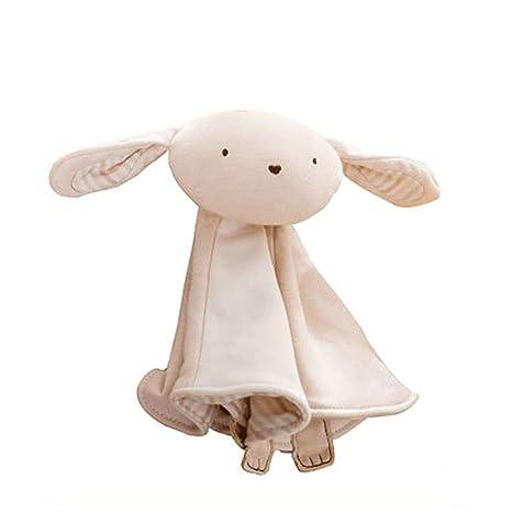 Dearmy Bebé Tranquilizador Marioneta Toalla Juguete Orgánico Algodón Felpa Animales Conejo Elefante Oso Apaciguar Toalla Aprendizaje