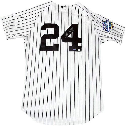(Tino Martinez Autographed Signed New York Yankees Authentic Pinstripe Jersey with 1999 Patch MLB Auth - Authentic Signature)