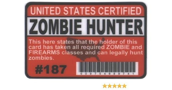 Zombie Hunters Permit ID Badge International