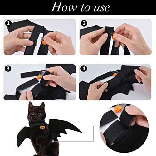 Legendog Cat Costume Halloween Bat Wings Pet Costumes Pet Apparel for Small Dogs and Cats (Bat Wings) 31