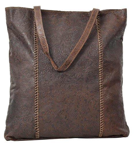 Shopper Gusti Leder studio Amelie Ledertasche Henkeltasche Handtasche Frauen Damentasche Echt Leder Braun 2M63-20-13