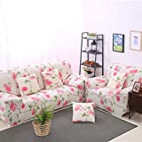 lightclub Pink Flower Stretch Fitted Furniture Sofa Cover Slipcover for 1 2 3 4 Seater 3 Seater