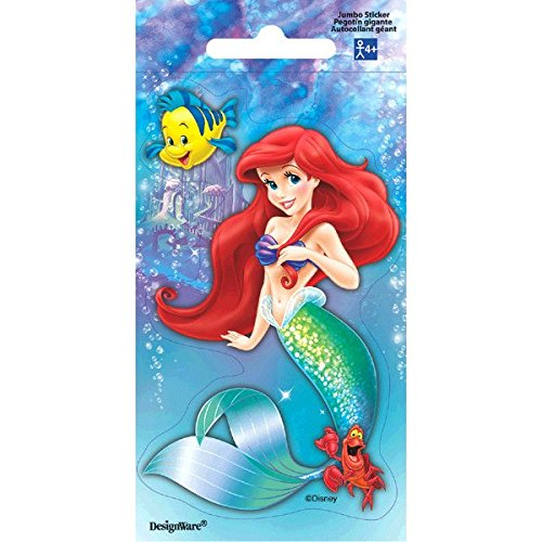 Disney Little Mermaid Jumbo Sticker | Party Favor ()