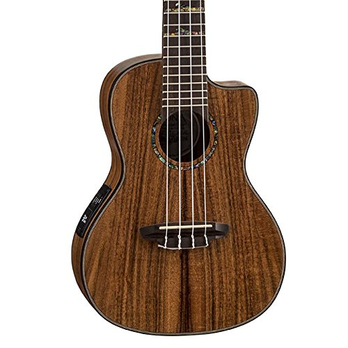 Luna High Tide Koa Concert Acoustic/Electric Ukulele with Preamp, Satin Natural (Electronic High)