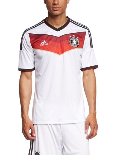 adidas Herren Trainingsshirt DFB Trikot Home WM, Weiß / Rot, XXL, G87445