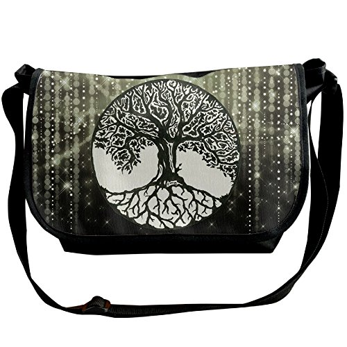 (Awesome Tree Of Life Art Shoulder Bag Crossbody Messenger Tote Casual Adjustable Strap Sling Postman Bags)