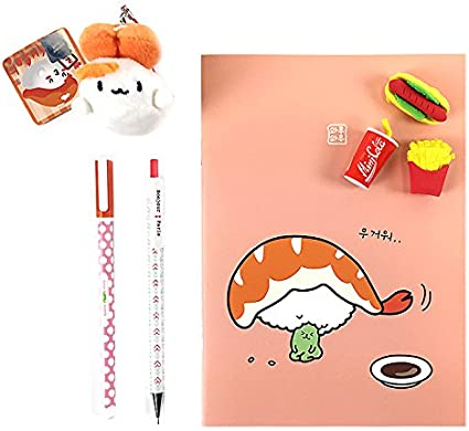 Waruwaru Sushi Food Eraser School Supply Stationery Pencil Notebook Coral Amazon Co Uk Office Products Everyone in the family (or at the party) will have fun rolling the nori sheets around sushi rice and their favorite fillings! waruwaru sushi food eraser school