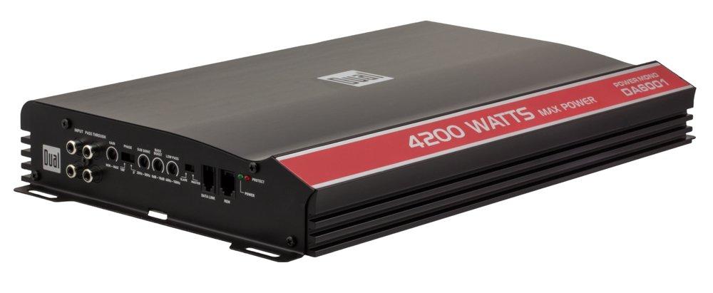 Dual Electronics DA6001 High Performance Series MOSFET Class D Mono Channel Car Amplifier with 4200 Watt Peak Power by Dual Electronics
