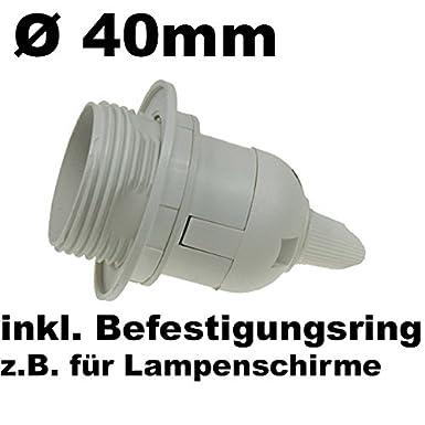ChiliTec Schraub Lampenfassung mit 3,40m Kabel und Schalter I E27 Sockel I Schnur-Schalter I 4 St/ück wei/ß