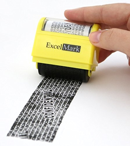 ExcelMark Rolling Identity Theft Guard Stamp (Identity Theft Roller (Identity Theft Guard)