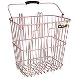 Basil Memories Bottle Rear Bicycle Basket - Soft Pink