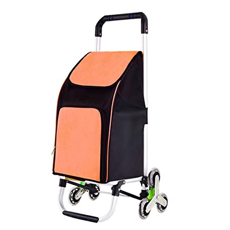 Carrito de compras Escalera de escalada con 6 ruedas para mercado de ultramarinos Viajes Ligera movilidad