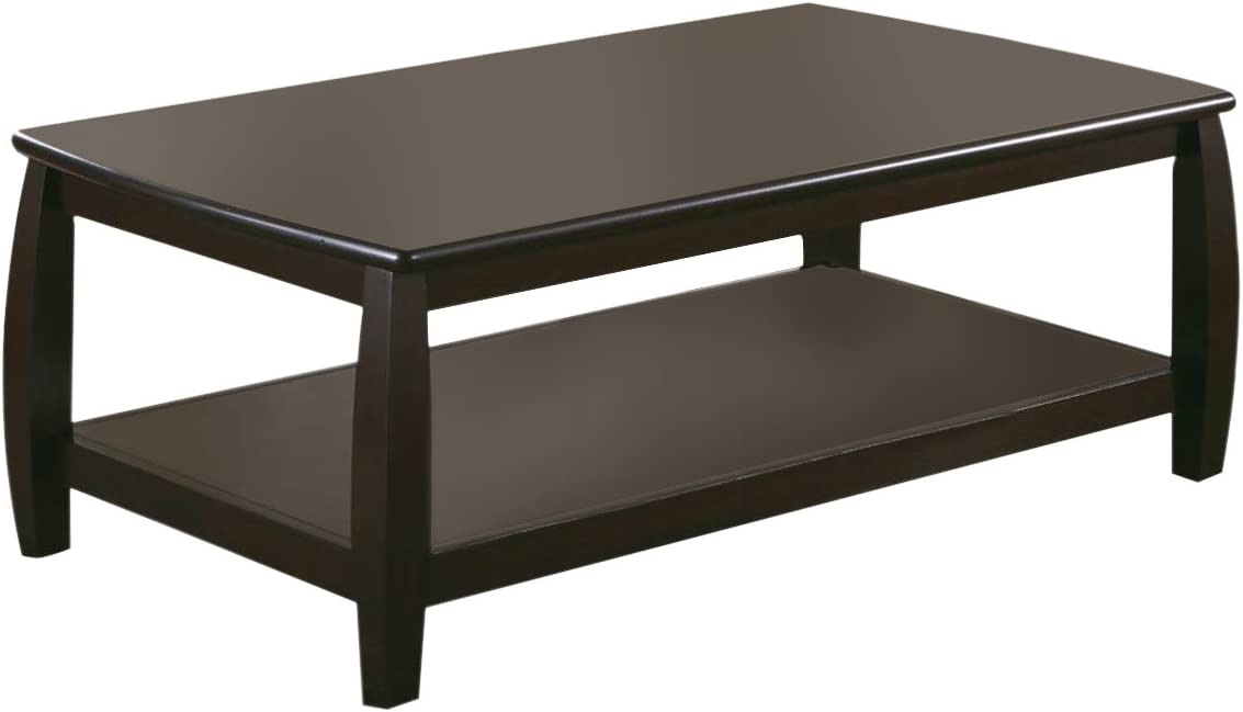 Coaster Home Furnishings Marina Coffee Table with Shelf Cappuccino