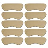 YRS Leather Back of Heel Cushion Heel Grips Cushion Beige/Self-Adhesive/10 PCS