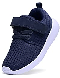 Baby's Boy's Girl's Lightweight Breathable Sneakers Strap Athletic Running Shoes