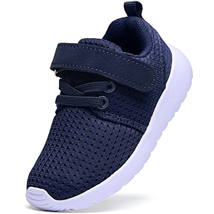 DADAWEN Toddler/Little Kid Boys Girls Lightweight Breathable Sneakers Strap Athletic Tennis Shoes for Running Walking