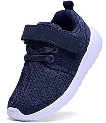 DADAWEN Baby's Boy's Girl's Lightweight Breathable Sneakers Strap Athletic Running Shoes Navy US Size 5.5 M Toddler