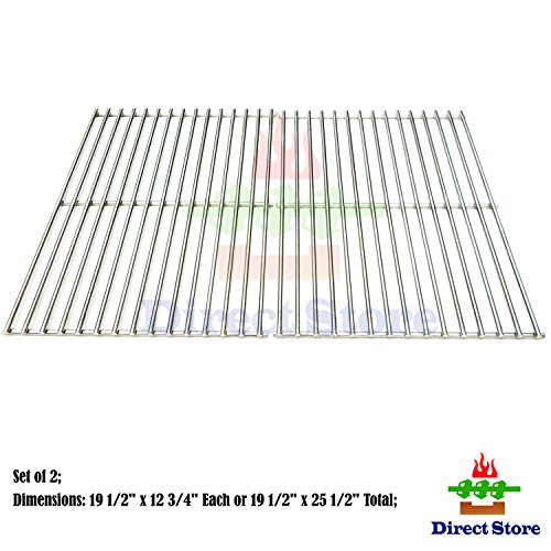 Direct store Parts DS106 Solid Stainless Steel Cooking grids Replacement DCS Models: 27, 27DBQR, 27DBR, 27DSBQ, 27DSBQR, 27FSBQ, 27FSBQR, BGA27-BQ, BGA27-BQR; Uniflame : NSG3902B, Gas Grill (Grids Replacement Dcs Cooking)