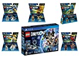 Lego Dimensions Ninjago Starter Pack + Jay + LLoyd + Nya + Zane + Sensei Wu Fun Packs for Playstation 4 or PS4 Pro Console