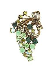 Fashion Ethnic Flower Rhinestone Diamante Corsage Brooch Pins Clips