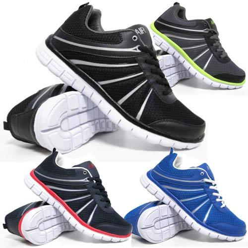Mens Air Shock Absorbing Light Weight Jogging Running Walking Traiiner Gym Shoe Size