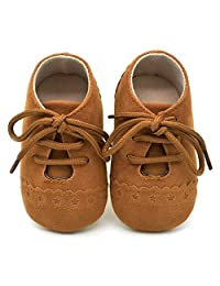 Liobaba Baby Toddler Shoe,Kids Shoes Slip-on Loafers Dress,Boys Girls Shoes Sale Comfortable Suede Leather