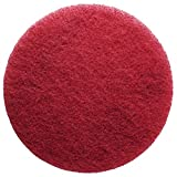 FLEXIS KGS floor cleaning & polishing pads (2 packs) (Grit 400 - Red, 11 inch)