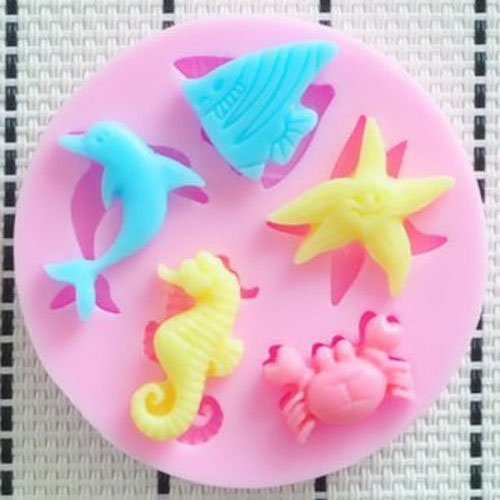 Generic Chocolate Silicone Cake Decorating Dolphins Sugarcraft Mould Mold Hippocampus Starfish