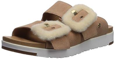 96d5d3abaa Amazon.com | UGG Women's Fluff Indio Flat Sandal | Flats